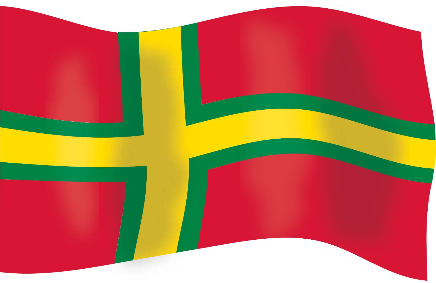 röd gul grön flagga